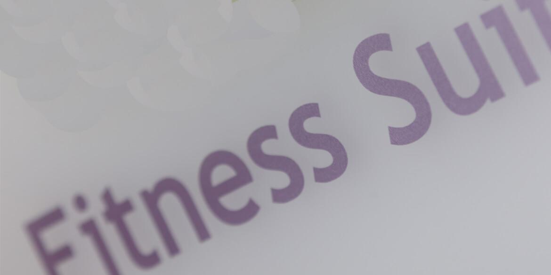 Fitness studio plaque
