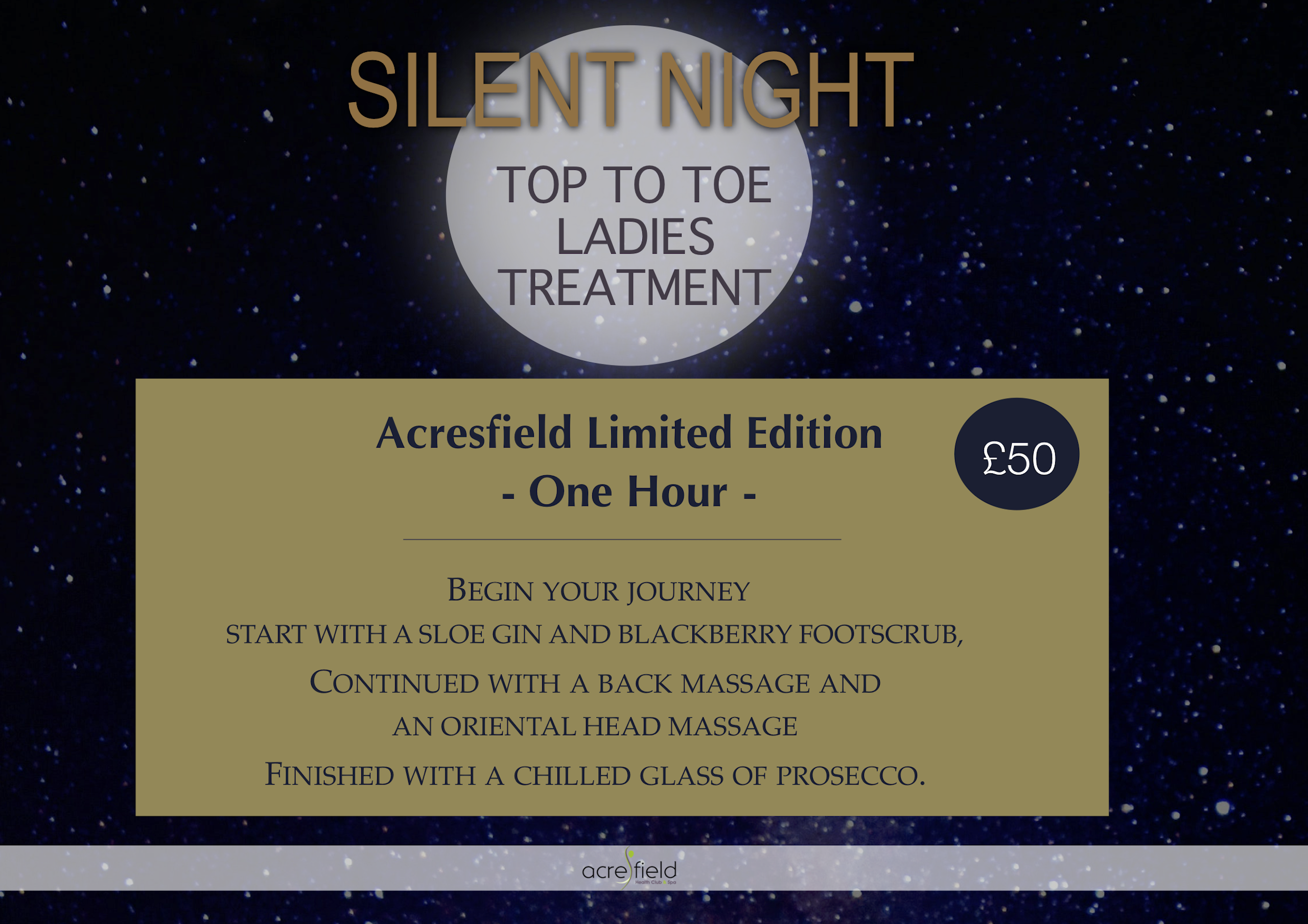 Silent night spa treatment