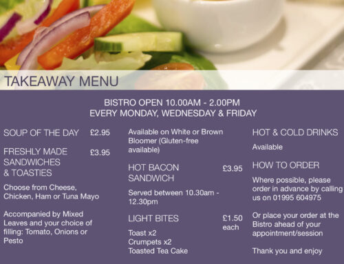 Takeaway service now available